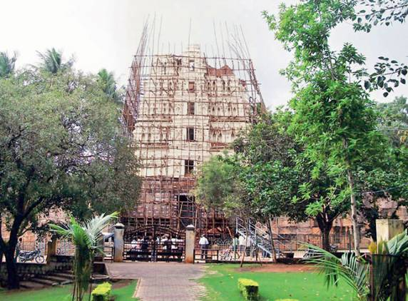 Srisailam Shivaji Temple Gopuram Collapses