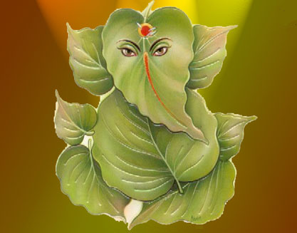 lord ganesha with mantra and different names