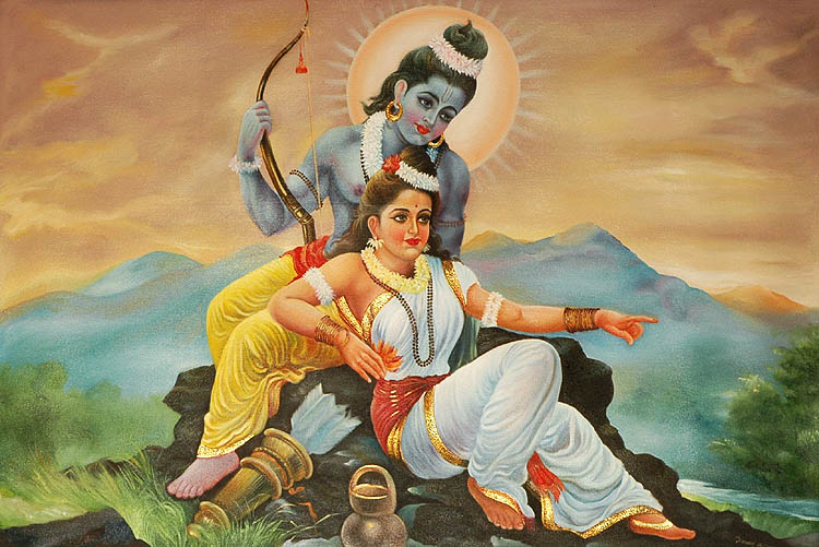lord rama sita paint images