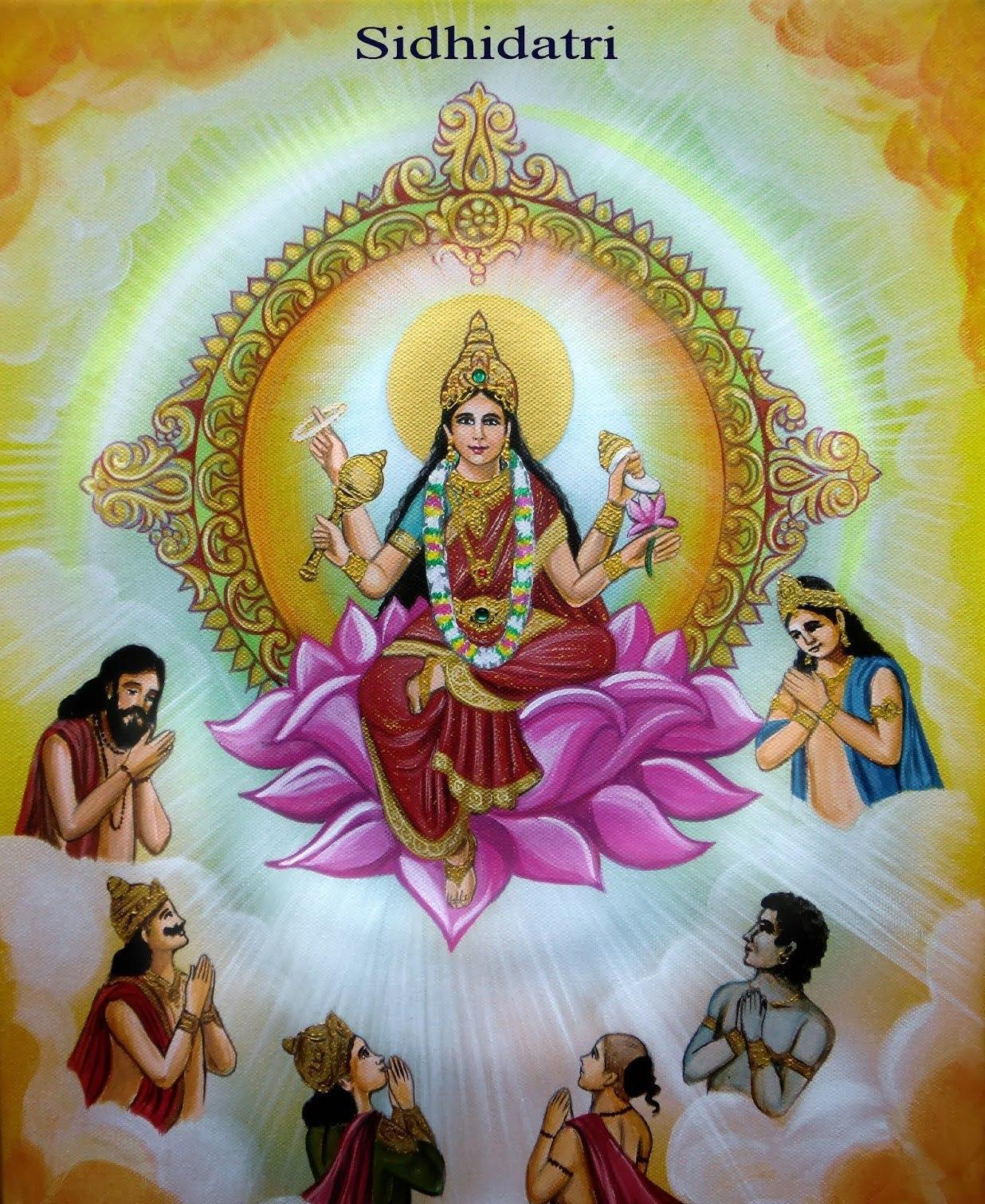 Hindu goddess siddhidatri one of the form of lord durga devi