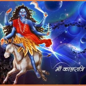 hindu goddess maa kalratri image and senvth day of navaratri