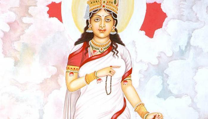 Hindu goddess Bharmacharini Devi aradhana mantra