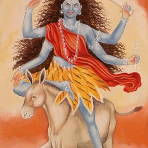 image of hindu goddess kalaratri devi 7 th form of durga devi