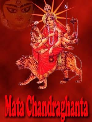 photo of goddess maa chandraghanta-mata