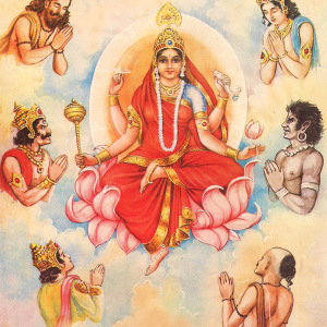 picture of hindu goddess durga devi ninth avatar is mata sjddhidatri